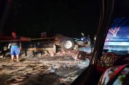 Los fallecidos eran el conductor y su ayudante.