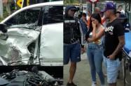 Jarlan Barrera, involucrado en accidente que dejó dos heridos en Copacabana