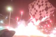 Susto en Itagüí, Antioquia, por globo cargado de pólvora que se salió de control
