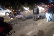 Accidente en la vía La Ceja - Rionegro