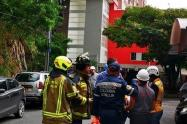 Evacuación edificio en La Mota, Medellín