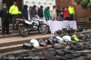 Policía capturó a ocho presuntos ladrones de motos en Medellín y Bello