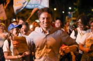 Daniel Quintero Calle, en sus eventos de campaña.