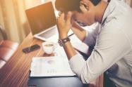 Trabajador estresado