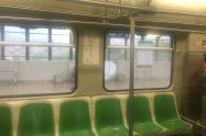 Vagón del Metro de Medellín donde ocurrieron los hechos