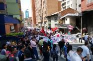 Nueva jornada de protestas en Medellín.