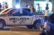La patrulla fue pintada en los alrededores de la Universidad de Antioquia.
