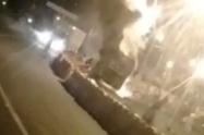 Falla mecánica causó incendio de un bus en San Jerónimo, Antioquia