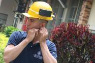 casco para mineros.