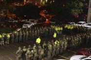 Policías en Medellín