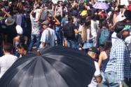 Habitantes de diez municipios antioqueños salieron a marchar