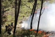 Incendio en el Cerro Quitasol