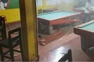 Lugar donde ocurrió el atentado. Caucasia, Antioquia