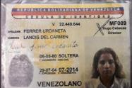 Cédula venezolana utilizada por Merlano