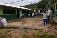 Institución educativa en El Guaimaro, Tarazá, Antioquia