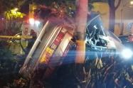Cinco personas heridas, dejó grave accidente de tránsito en la avenida las vegas de Medellín