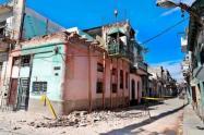 Derrumbe de balcón en Cuba