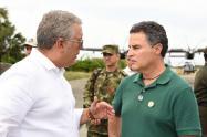 El presidente Iván Duque y el gobernador de Antioquia, Aníbal Gaviria