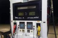 Daños en la estación de gasolina del barrio Comodatos de El Bagre