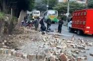 Dos obreros murieron atrapados por un muro en Rionegro, Antioquia