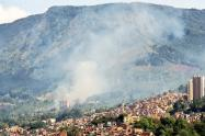 Incendio forestal en Medellín