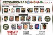 """La lista la encabeza alias """"Otoniel"""", por quien se ofrece 2500 millones de pesos."""