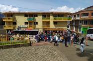 Llegada de desplazados a Ituango, Antioquia.