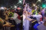 Policía fue manoseado en un carnaval