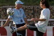 José Pékerman y Lionel Messi - Argentina