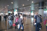 Controles en el Aeropuerto El Dorado, por el coronavirus