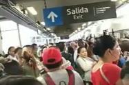 Caos en el metro de Medellín, el sistema funciona de manera restringida
