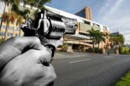Disparan arma de fogueo en un gimnasio de Medellín, por una deuda de $90 millones