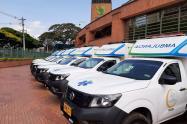 Las ambulancias fueron distribuidas en dieciocho municipios antioqueños