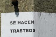 Con un plantón en Medellín, trabajadores de trasteos le pidieron al presidente Duque que les permita ganarse el sustento