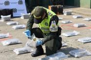 La policía decomisó más de cien kilos de marihuana en Caldas, Antioquia