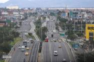 Panorámica de Bogotá en cuarentena