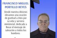 El sacerdote Francisco Miguel Portillo Reyes, fallecido por coronavirus
