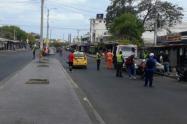 Controles policiales en Riohacha