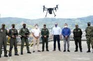 Con drones de vigilancia, autoridades de Itagüí, Antioquia, vigilan los puntos más violentos