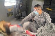Fuerza Área rescató a una menor que resultó herida por mina antipersonal en Murindó, Antioquia