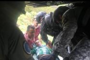 Joven mordido por una serpiente fue trasladado en helicóptero a Rionegro, Antioquia