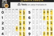 ¡Ponga atención! Regresa el pico y placa para taxis a partir de este martes