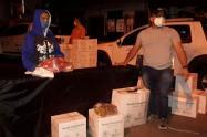 Entregan ayudas a 73 familias afectadas por la creciente de la quebrada La García en Bello