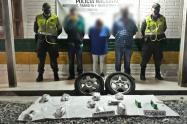 El estupefaciente estaba a avaluado en 9.000.000 millones de pesos.Tres personas fueron capturadas.