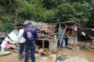Daños ocasionados por las lluvias en Angostura, Antioquia.