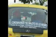 Taxista dice que el coronavirus es una farsa