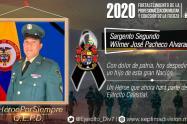 Sargento segundo, Wilmer José Pacheco Alvarado.