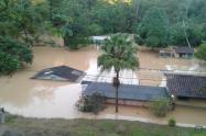 Inundaciones en Vegachí, Antioquia.