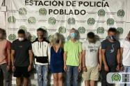 Los capturados corresponden a siete hombres y una mujer de nacionalidadvenezolana.