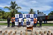 En el operativo fueron capturados un colombiano y dos extranjeros.